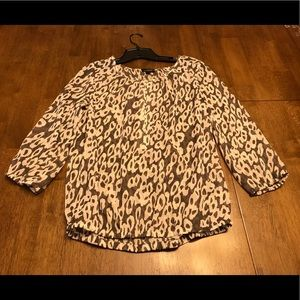 Blown & cream animal print shirt. Size S cute fit
